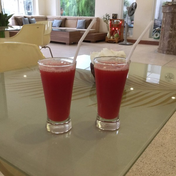 Watermelon juice freshly squeesed